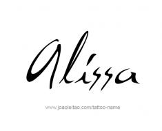 tattoo-design-name-alissa-01