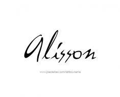 tattoo-design-name-alisson-01
