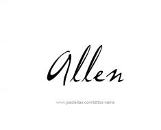 tattoo-design-name-allen-01