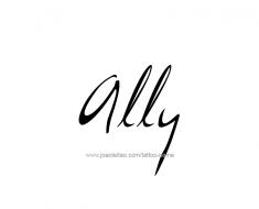 tattoo-design-name-ally-01
