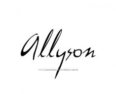 tattoo-design-name-allyson-01
