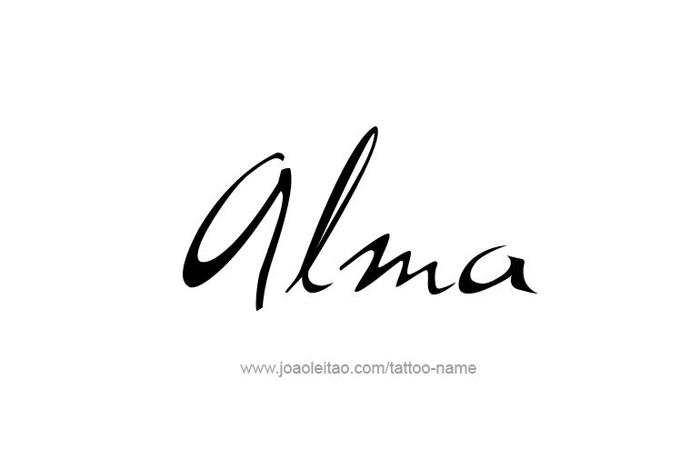 Alma Name Tattoo Designs