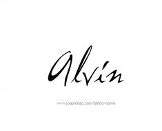 tattoo-design-name-alvin-01