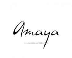 tattoo-design-name-amaya-01