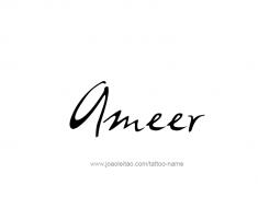 tattoo-design-name-ameer-01