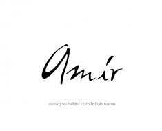 tattoo-design-name-amir-01