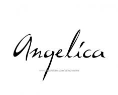 tattoo-design-name-angelica-01