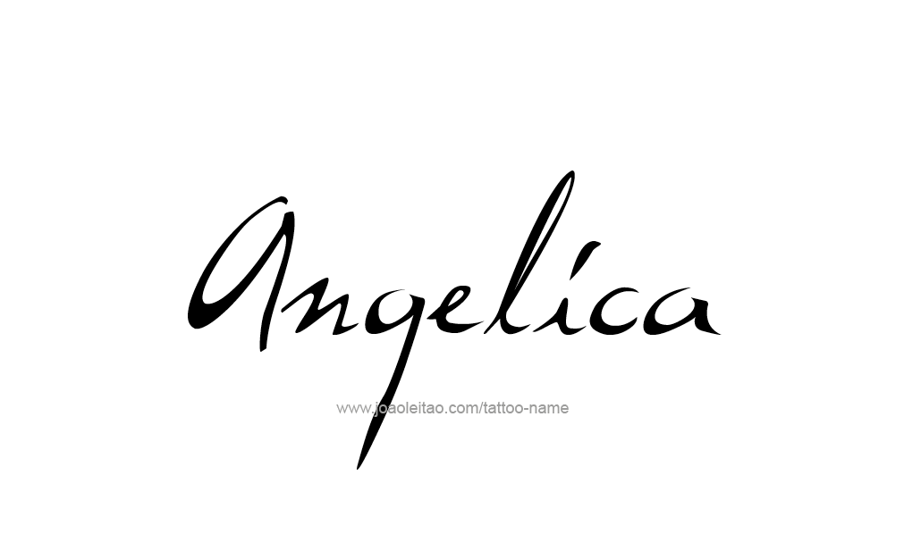 Super Angelica Name Tattoo Designs HG08
