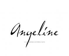 tattoo-design-name-angeline-01