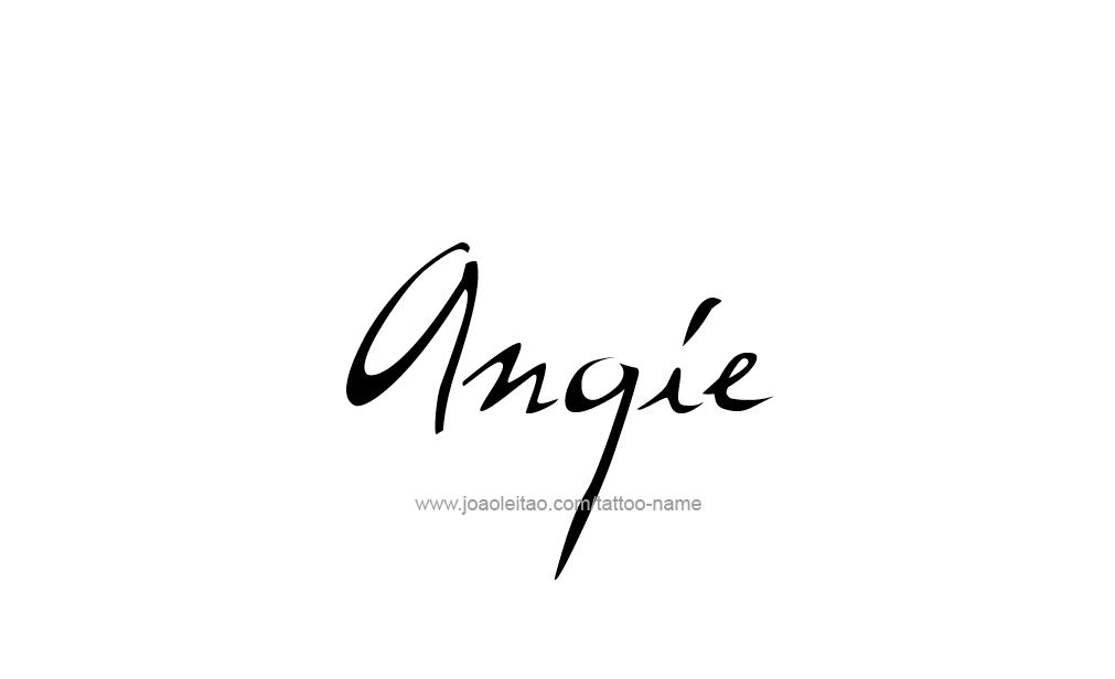 Tattoo Design Name Angie