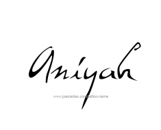 tattoo-design-name-aniyah-01