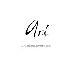 tattoo-design-name-ari-01