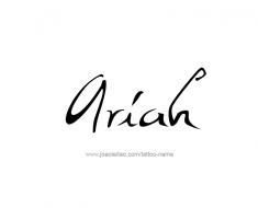 tattoo-design-name-ariah-01