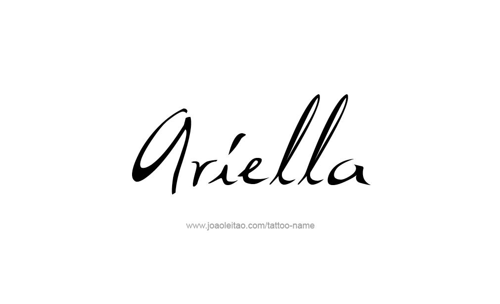 ariella name tattoo designs. Black Bedroom Furniture Sets. Home Design Ideas