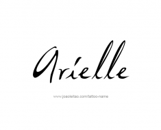 tattoo-design-name-arielle-01