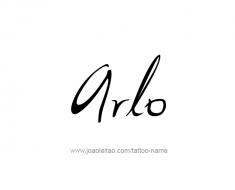 tattoo-design-name-arlo-01