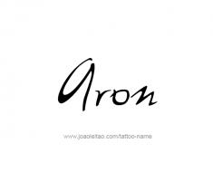 tattoo-design-name-aron-01