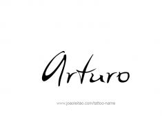 tattoo-design-name-arturo-01