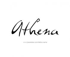 tattoo-design-name-athena-01