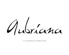 tattoo-design-name-aubriana-01