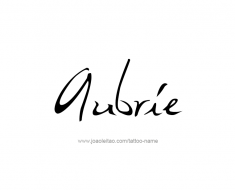 tattoo-design-name-aubrie-01