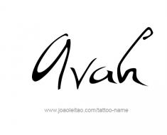 tattoo-design-name-avah-01