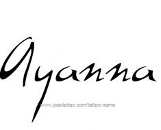 tattoo-design-name-ayanna-01