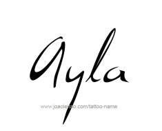 tattoo-design-name-ayla-01