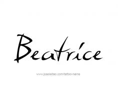 tattoo-design-name-beatrice-01