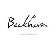 tattoo-design-name-beckham-01