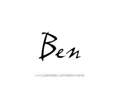 tattoo-design-name-ben-01