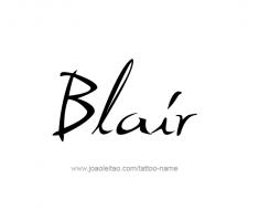 tattoo-design-name-blair-01