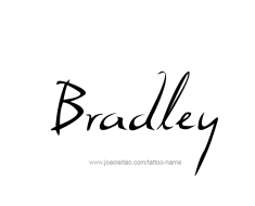 tattoo-design-name-bradley-01