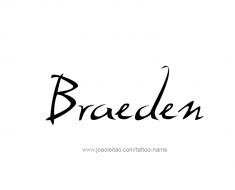 tattoo-design-name-braeden-01