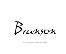 tattoo-design-name-branson-01