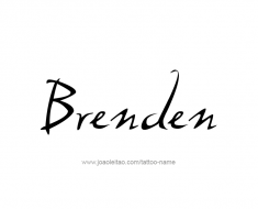 tattoo-design-name-brenden-01