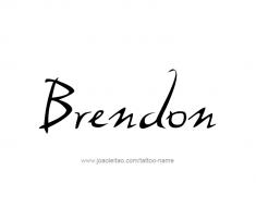 tattoo-design-name-brendon-01
