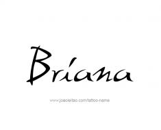 tattoo-design-name-briana-01
