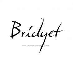 tattoo-design-name-bridget-01