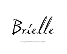 tattoo-design-name-brielle-01