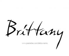tattoo-design-name-brittany-01