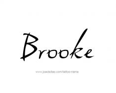tattoo-design-name-brooke-01
