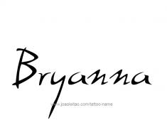 tattoo-design-name-bryanna-01