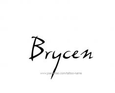 tattoo-design-name-brycen-01