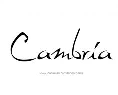 tattoo-design-name-cambria-01
