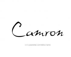 tattoo-design-name-camron-01