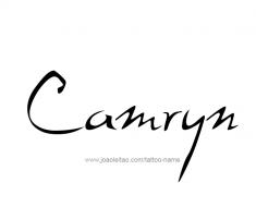tattoo-design-name-camryn-01