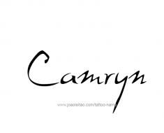 tattoo-design-name-camryn-011