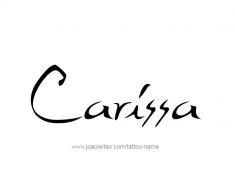 tattoo-design-name-carissa-01