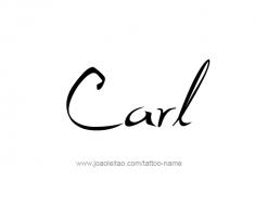 tattoo-design-name-carl-01
